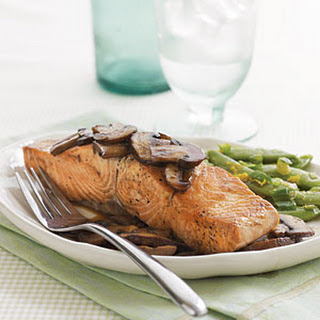 Teriyaki Salmon with Mushrooms.