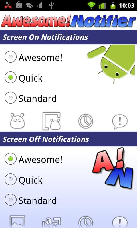 Awesome! Notifier - screenshot