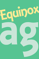 Screenshot of Equinox FlipFont