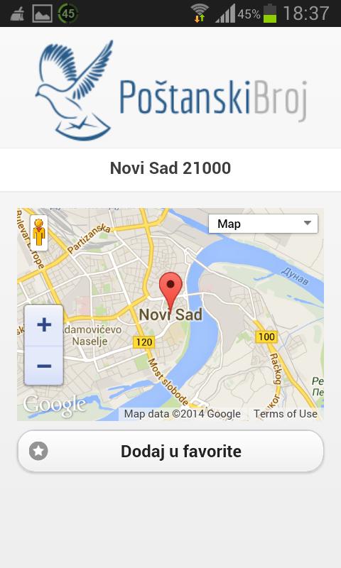Poštanski Broj - screenshot