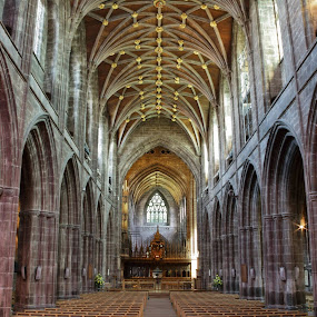 Here is a photograph I took from Chester Cathedral.  Located in Chester, Cheshire, England, UK. by Michael D Beckwith - Buildings & Architecture Places of Worship