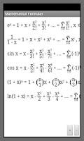 Screenshot of Mathematical Formulas