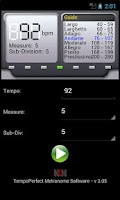 Screenshot of TempoPerfect Metronome Free