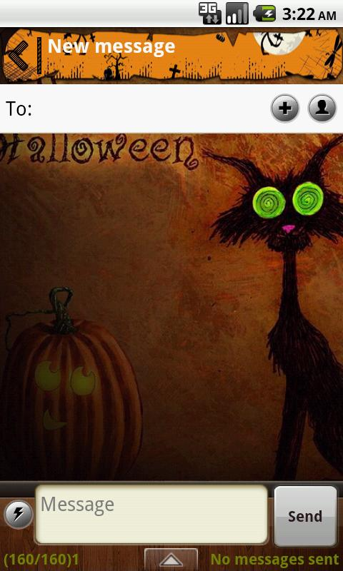 Handcent Halloween 2012 Skin- screenshot