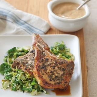 Pork Chops with Horseradish Applesauce