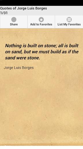 【免費娛樂App】Quotes of Jorge Luis Borges-APP點子