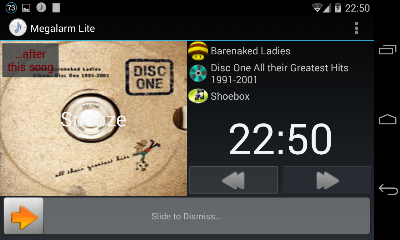Music Alarm Megalarm Lite- screenshot