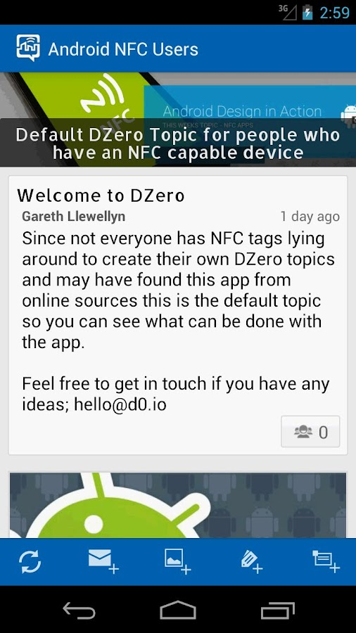DZero - NFC Conversations - screenshot