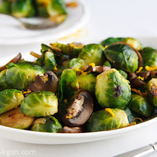 Brussels Sprouts and Mushrooms.