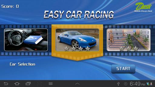 簡単な乗用車レースゲーム
