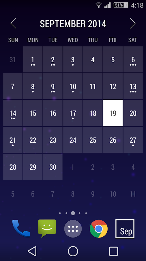 Calendar Wallpaper Android : Month calendar widget android apps on google play