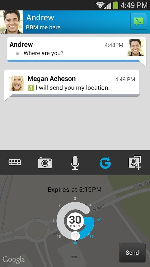 BBM - screenshot