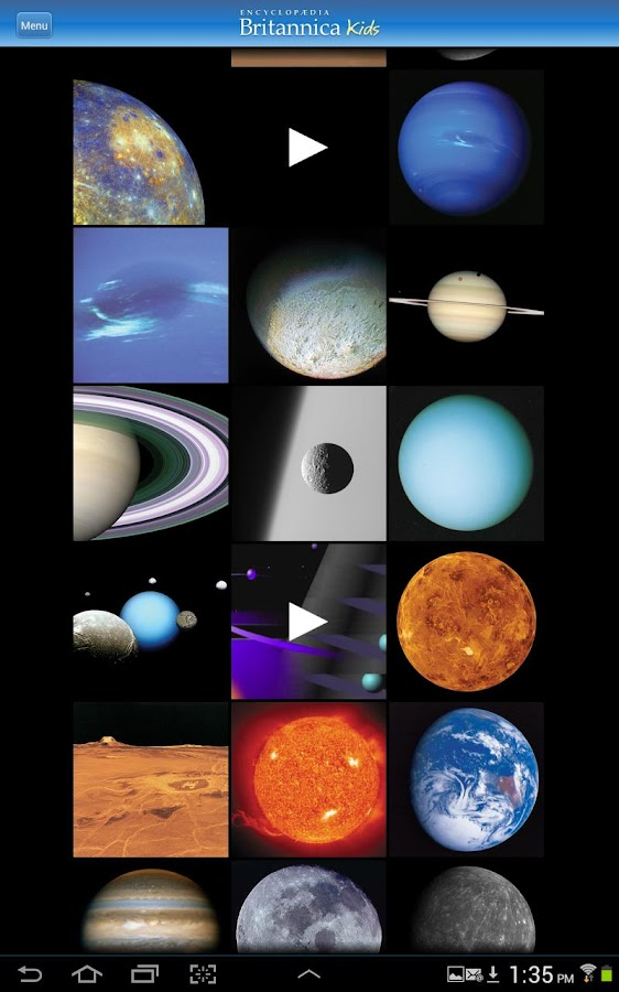 Britannica Kids: Solar System- screenshot