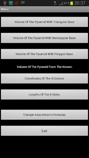 Pyramid volume by coordinates