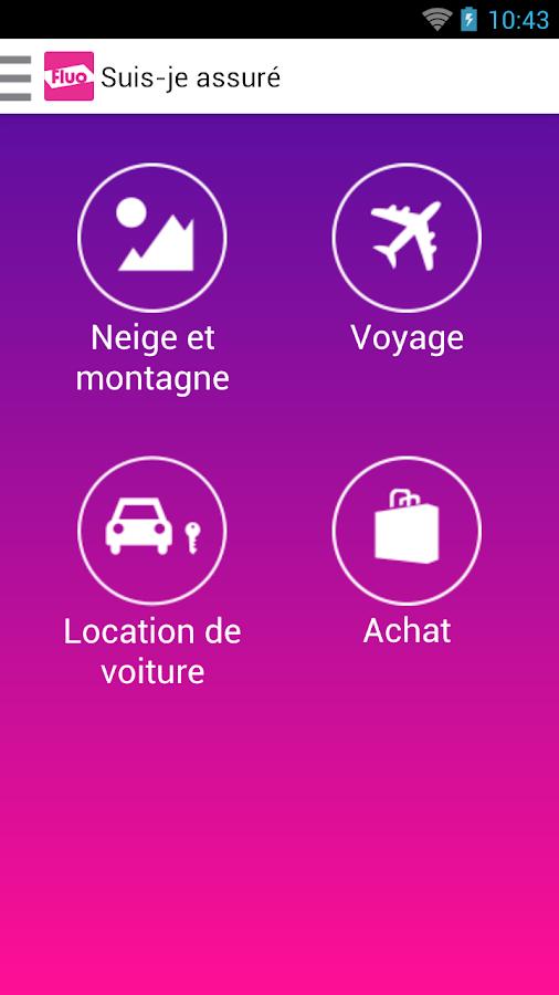 fluo suis je assur applications android sur google play. Black Bedroom Furniture Sets. Home Design Ideas