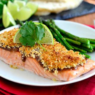 Crispy Baked Asian Salmon.