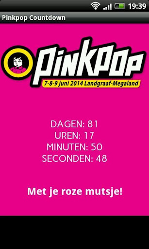 Pinkpop 2015 Countdown