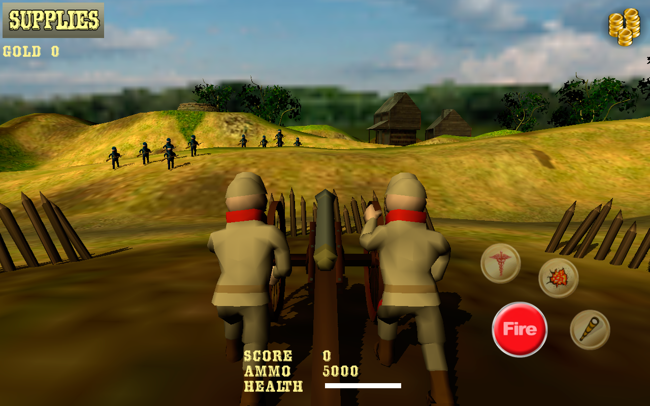 Cannon Shooter : Civil War Pro- screenshot