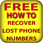Recover lost phone numbers