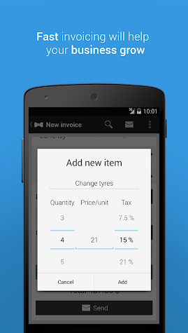 Gentlevoice - Invoice App Screenshot