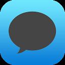 EvolveSMS Dark iOS Blue APK