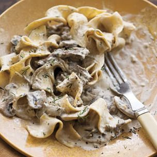 Steak and Mushroom Stroganoff