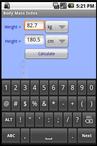 身高體重指數