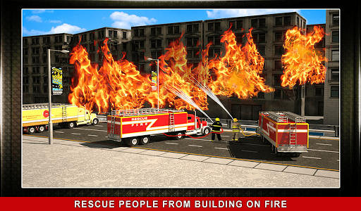 911 Rescue Fire Truck 3D Sim  screenshots 13