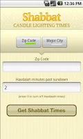 Screenshot of Shabbat