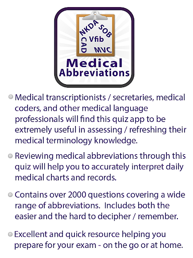 Medical Abbreviations Quiz