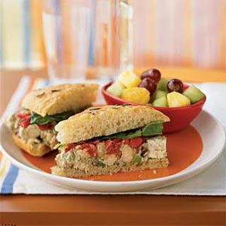 Pesto Chicken Salad Sandwiches.
