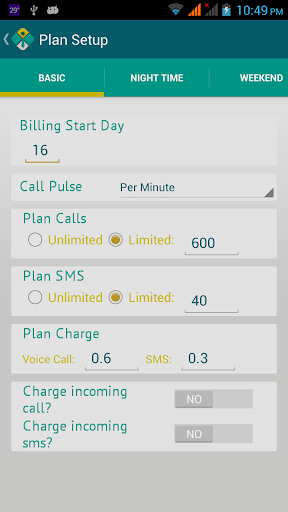 Plan Smart -Call Cost Tracking