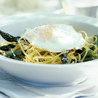 Linguine With Asparagus & Egg.