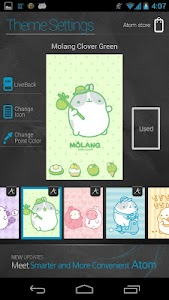 Molang Clover Green Atom theme screenshot 4
