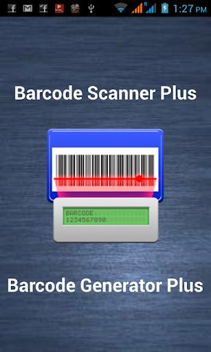 barcode scanner generator Plus