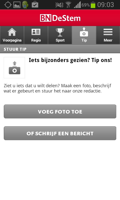 BN DeStem nieuws app - screenshot