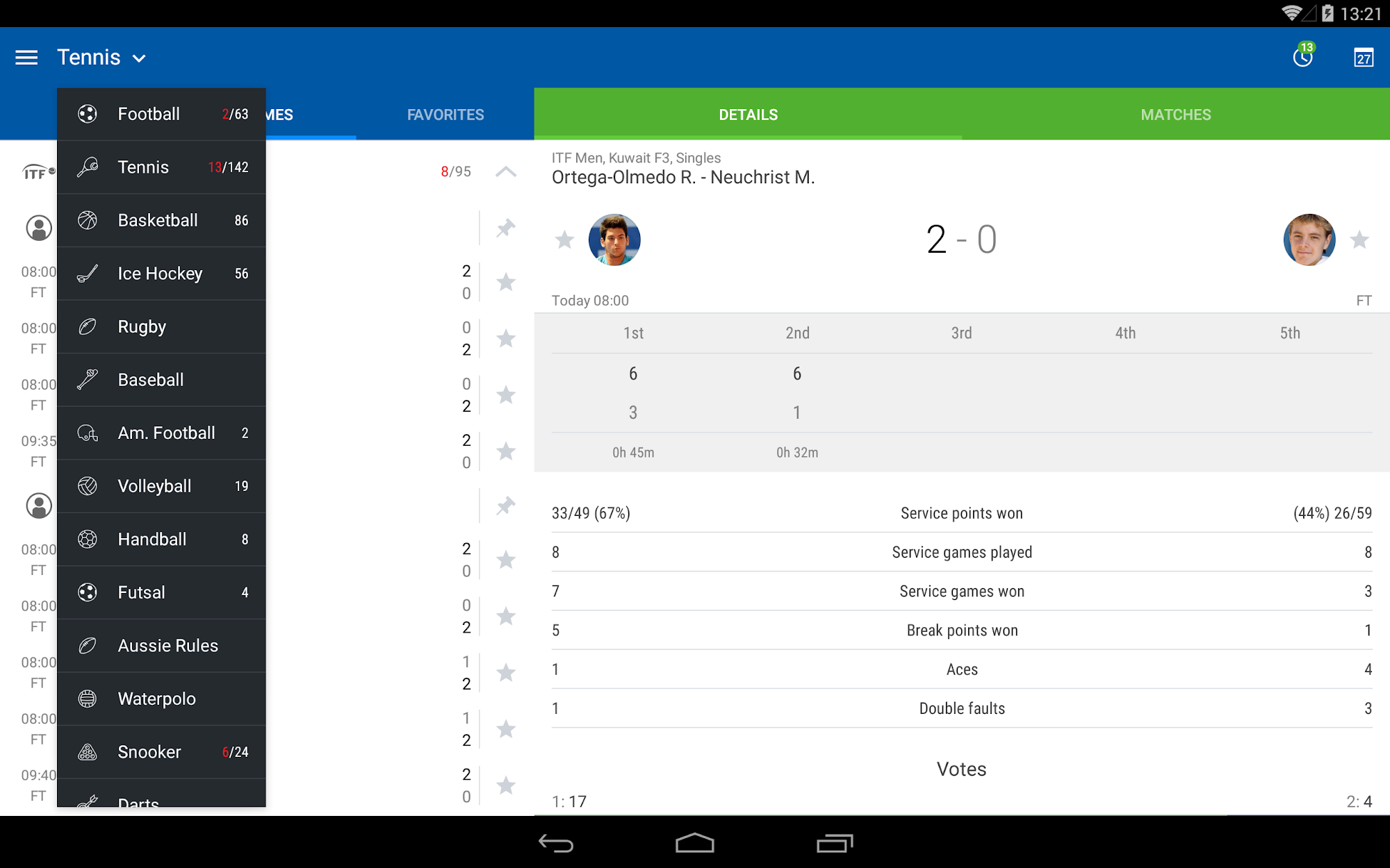 LiveScore results - SofaScore screenshot #2