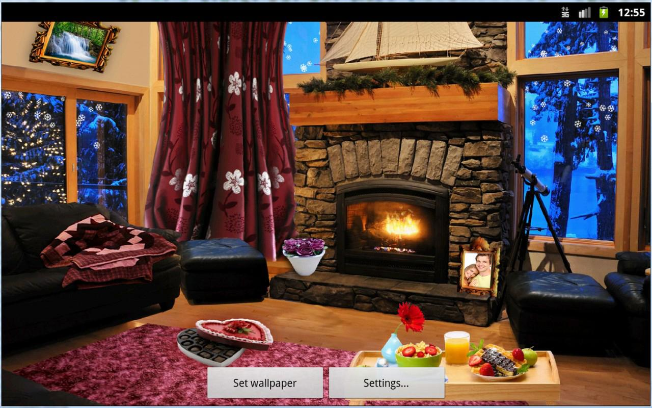 Romantic Fireplace LWP Full- screenshot