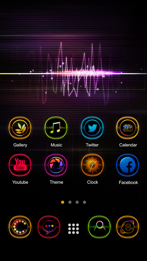Light Wave GO Launcher Theme- screenshot