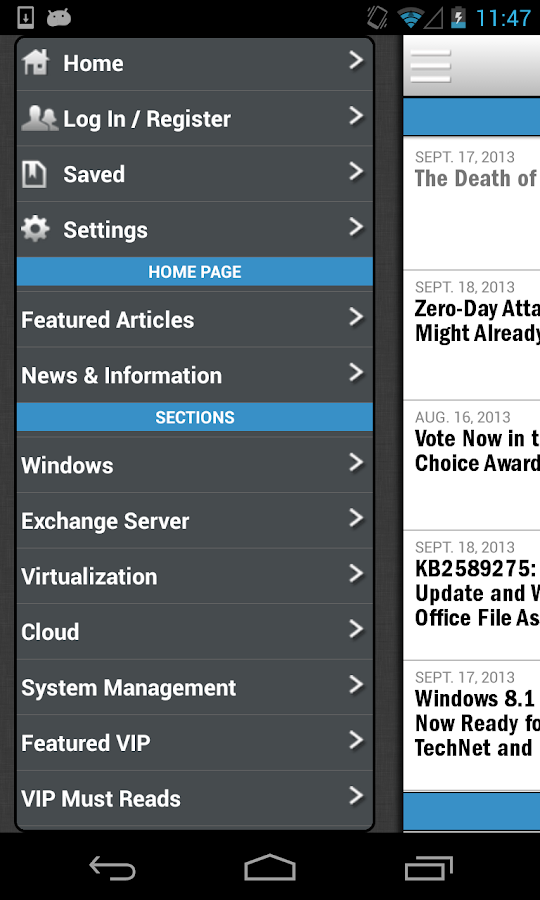 Windows IT Pro Mobile - screenshot