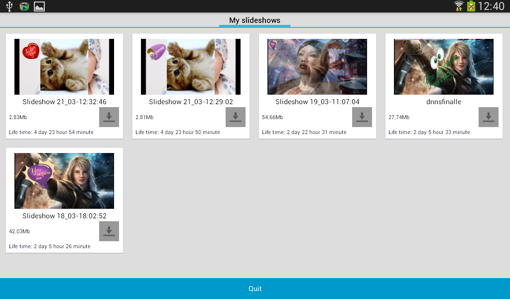 Slide Show Creator - screenshot