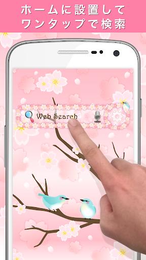 Spring flower Search Widget