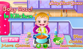 Screenshot of Baby Hazel Kitchen Time