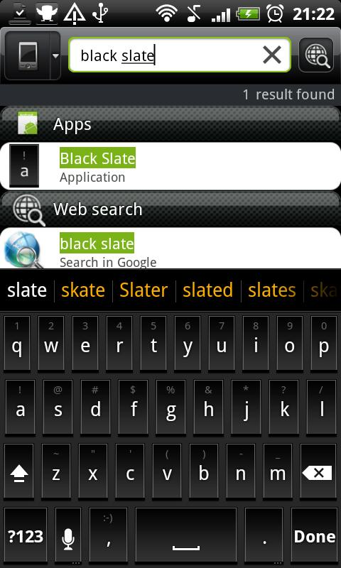 Black Slate - Keyboard Theme - screenshot