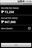 Screenshot of Phil. Income Tax Calculator