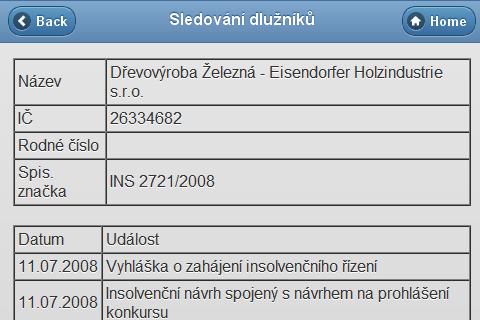 Dlužníci- screenshot