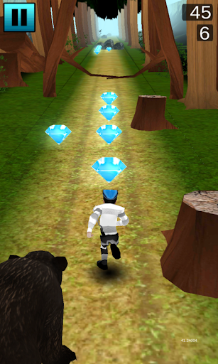 angry bear forest temple run