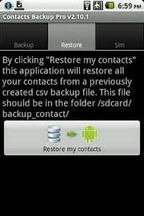 Contacts Backup Pro - screenshot thumbnail Android এর চমৎকার ও প্রয়োজনীয় কিছু Apps