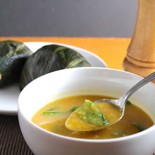 Roasted Winter Squash and Garlic Soup.
