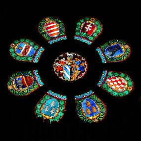 Rosace by Sámuel Zalányi - Artistic Objects Glass ( stained, hungary, window, dom, rosace, glass, cathedral, szeged,  )
